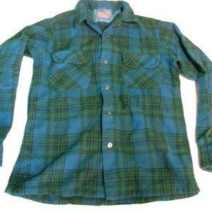 Vintage Pendleton Flannel Wool Button-Down Shirt